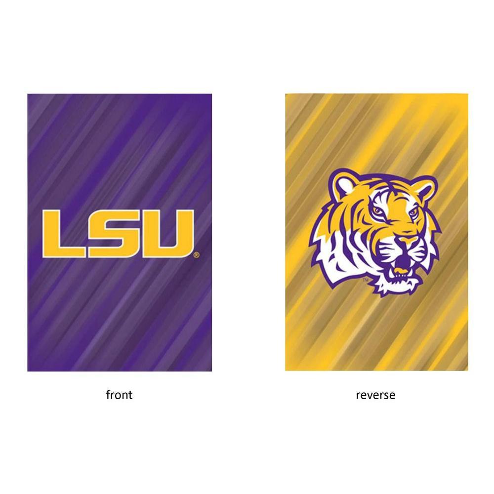 NCAA 18 in. x 12.5 in. Louisiana State University Suede Garden