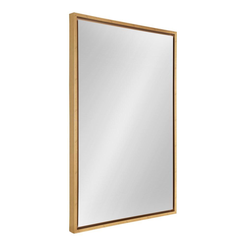 Medium Rectangle Gold Modern Mirror (36 in. H x 24 in. W)