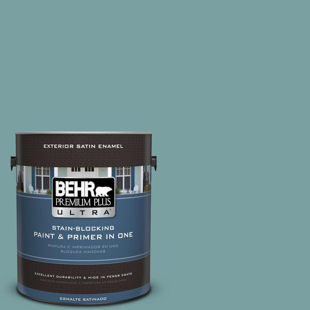 BEHR Premium Plus Ultra 1-gal. #S440-4 Tower Bridge Satin Enamel Exterior Paint