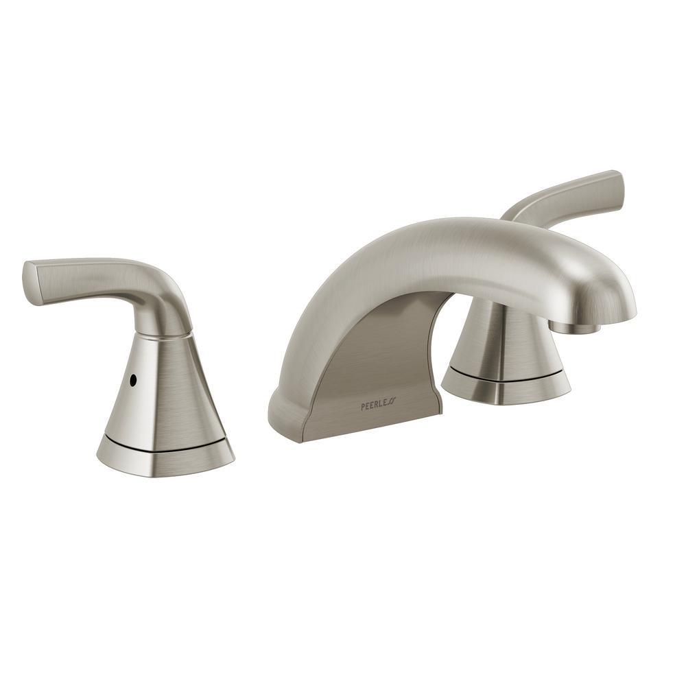 Parkwood 2-Handle Deck-Mount Roman Tub Filler Faucet Trim Kit in Brushed Nickel (Valve not Included)