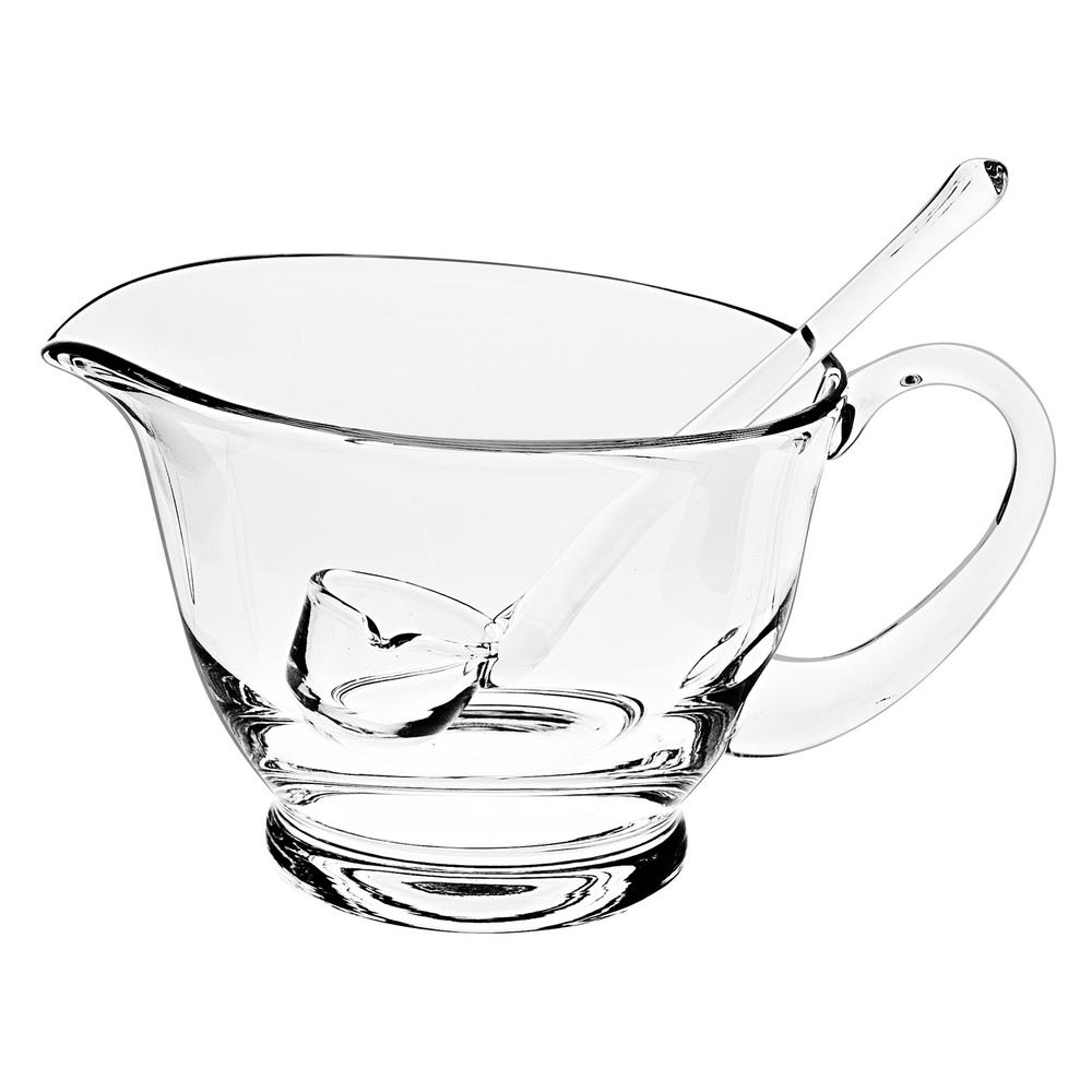 Badash Crystal Crystal Gravy Boat With Ladle Ny256 The Home Depot
