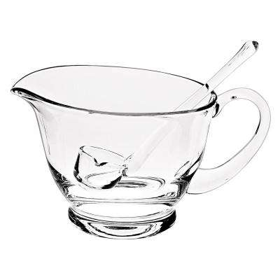 Crystal Gravy Boat with Ladle