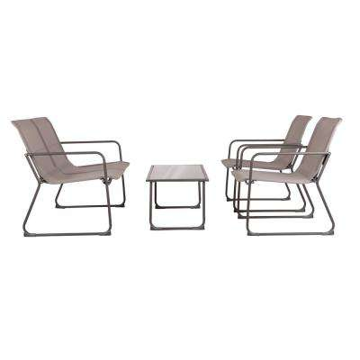 4-Piece Pinellas Metal Patio Conversation Set