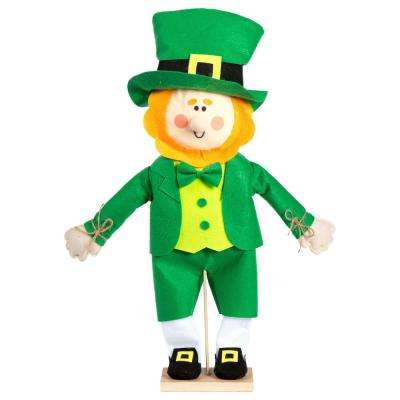 24 in. x 13 in. St. Patrick's Day MDF, Fabric Leprechaun Standing Decoration (2-Pack)