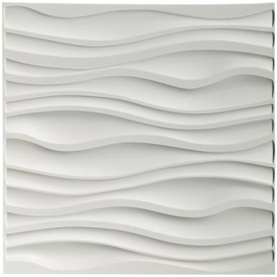 19.7 in. x 19.7 in. Decorative PVC 3D Wall Panels Wavy Wall Design (12-Pack)