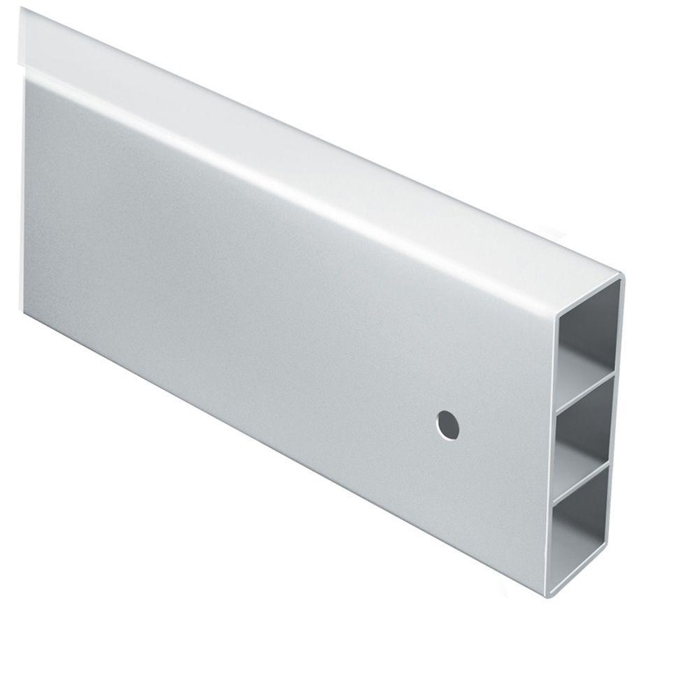 1-3/4 in  x 5-1/4 in  x 16 ft  White Vinyl Fence Rail