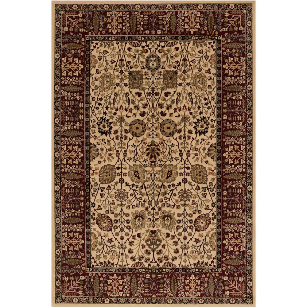 Concord Global Trading Persian Classics Vase Ivory 3 ft. 11 in. x 5 ft. 7 in. Area Rug