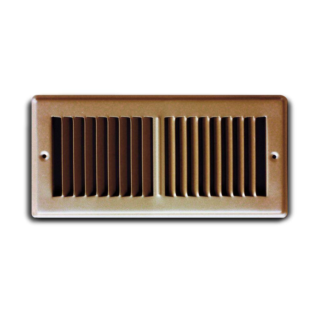 Truaire 2 In X 12 In Brown Toekik Floor Grille H150tsb