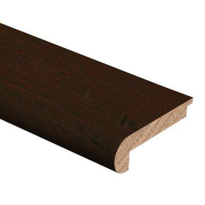 Hand Scraped Strand Woven Bamboo Brown 3/8 in. Thick x 2-3/4 in. Wide x 94 in. Length Hardwood Stair Nose Molding