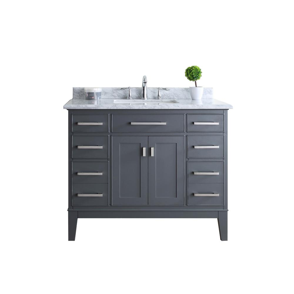 ari kitchen and bath danny 42 in single vanity in maple gray with rh homedepot com unfinished maple bathroom vanity maple bathroom vanity cabinets
