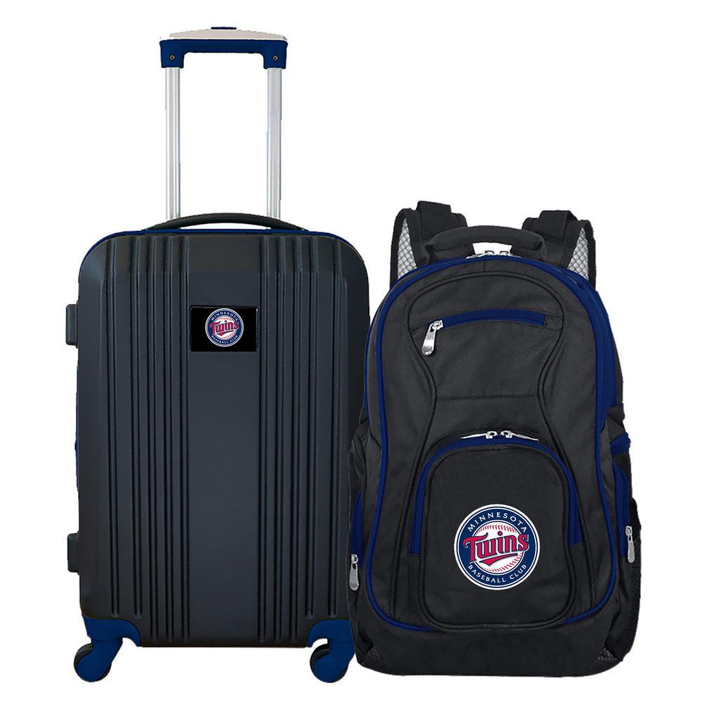 MLB Minnesota Twins 2-Piece Set Luggage and Backpack