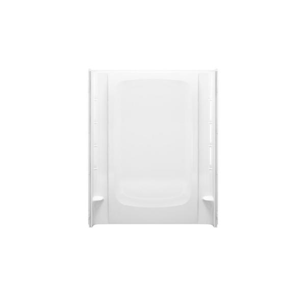 STORE+ 60 in. x 75-3/4 in. 1-Piece Direct-to-Stud Alcove Shower Wall in White