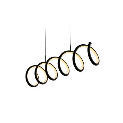 Ali 31 in. Dimmable Adjustable Integrated LED Black Metal Linear Pendant