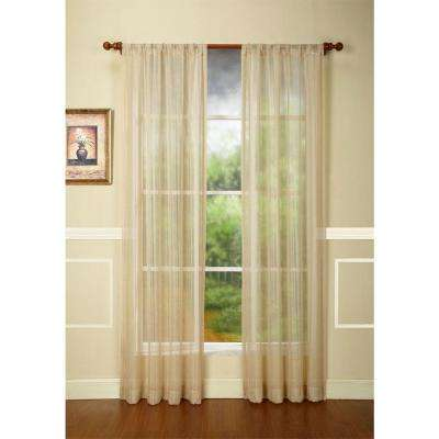 Natural Rod pocket Curtain Single Panel, 42 in. W x 84 in. L