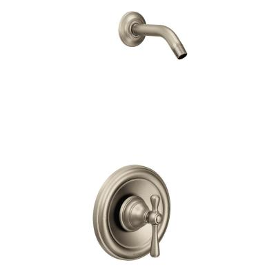 Kingsley Moentrol Single-Handle Shower Only Faucet Trim Kit in Brushed Nickel (Valve and Shower Head Not Included)