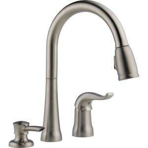 Delta Kate Single Handle Pull Down Sprayer Kitchen Faucet