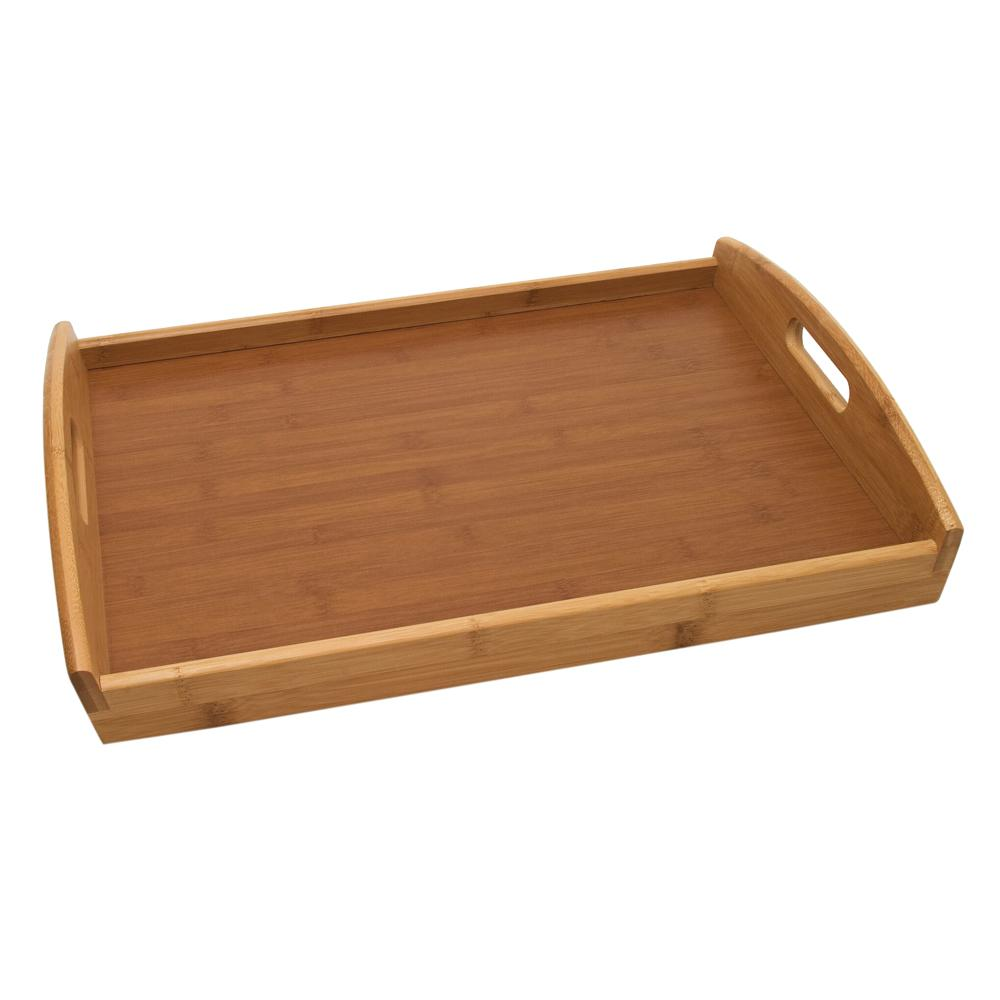 Lipper Bamboo Serving Tray 8864 The Home Depot