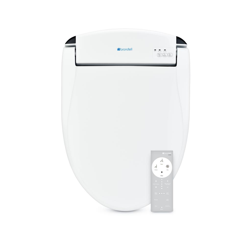 Brondell Swash Electric Bidet Seat for Elongated Toilets in White
