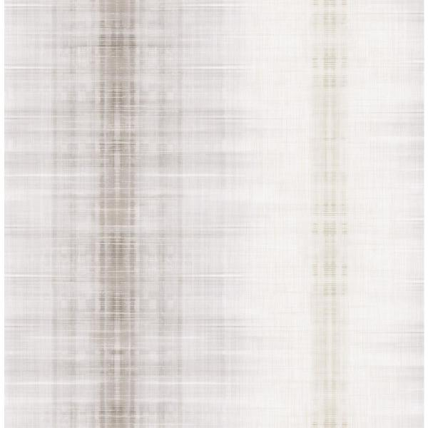 Seabrook Designs Marble Metallic Silver and White Stripe Wallpaper GT22008
