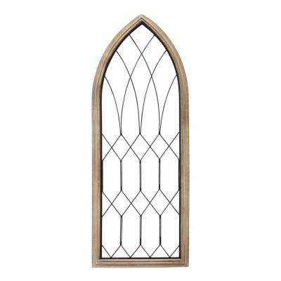 Wood and Metal Farmhouse Window Panel