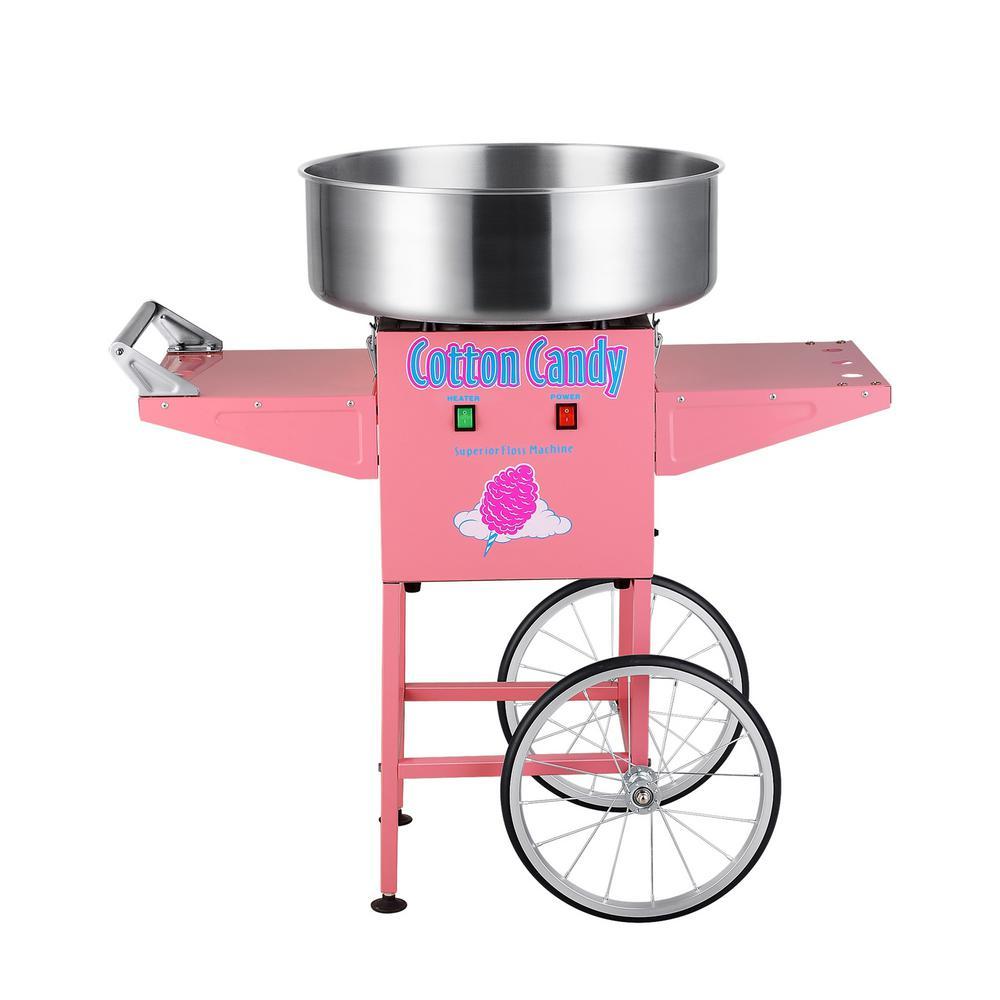Cotton Candy Floss Machine Maker with Cart