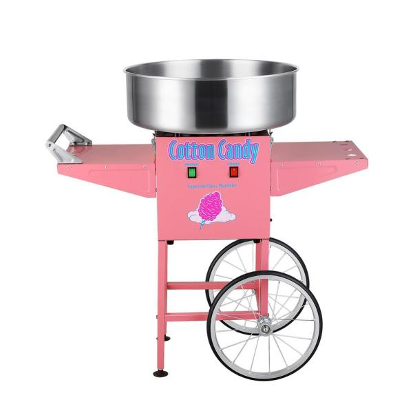 Superior Popcorn Company Cotton Candy Floss Machine Maker with Cart