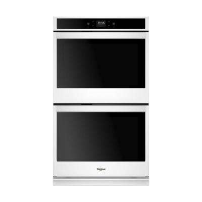 30 in. Smart Double Electric Wall Oven with Touchscreen in White