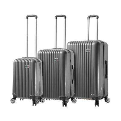 Lucca 3-Piece Black Hardside Spinner Set
