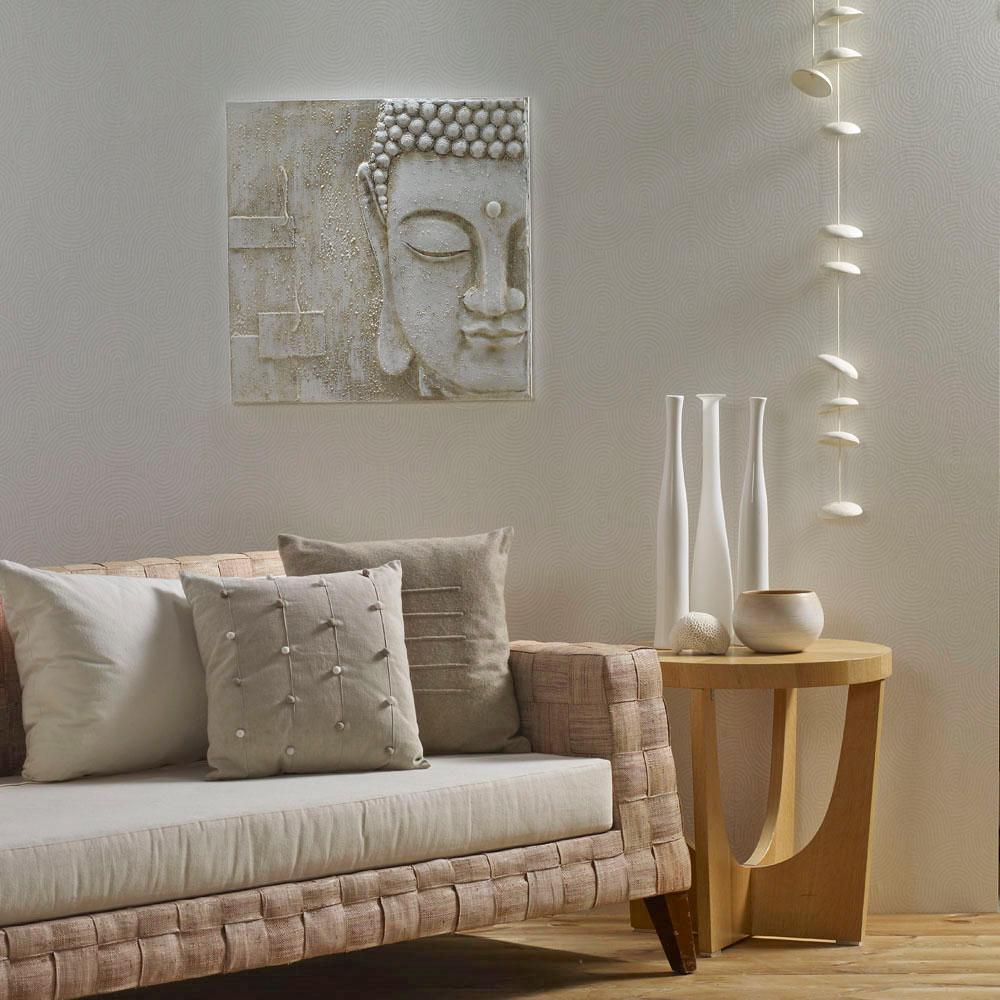 24 in. x 24 in. x 1 in. Peaceful Buddha 3D Print Wall Art