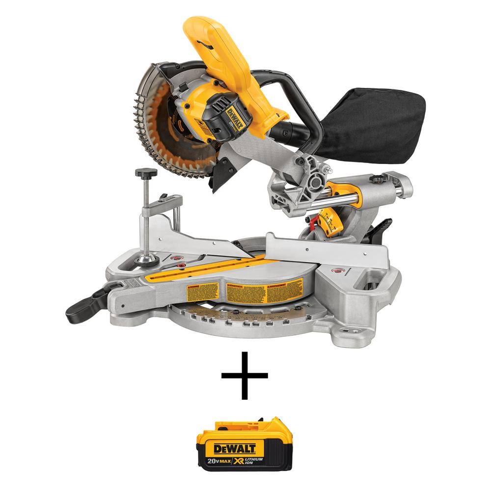 DEWALT 20-Volt Max Lithium-Ion Cordless Miter Saw (Tool-Only) with Free 20-Volt MAX XR Lithium-Ion Premium 4.0Ah Battery Pack
