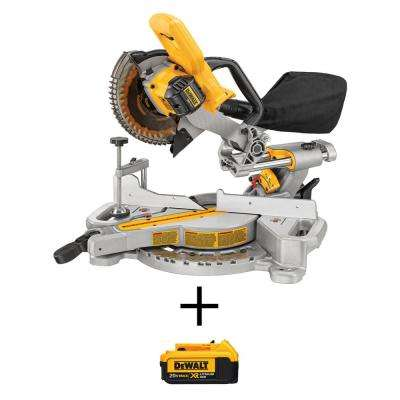20-Volt Max Lithium-Ion Cordless Miter Saw (Tool-Only) with Bonus 20-Volt MAX XR Lithium-Ion Premium 4.0Ah Battery Pack