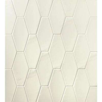 Birmingham Hexagon Vanilla 4 in. x 8 in. 8mm Polished Ceramic Subway Tile (5.38 sq. ft. / box)