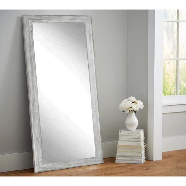 Brandtworks Weathered Gray Full Length Floor Wall Mirror Bm035ts