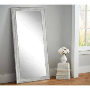 Weathered Gray Full Length Floor Wall Mirror by