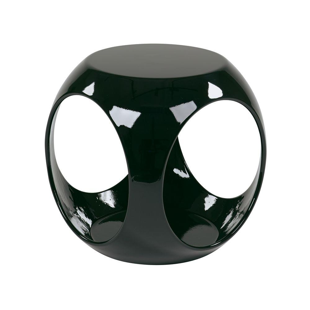 Slick Cube Black End Table