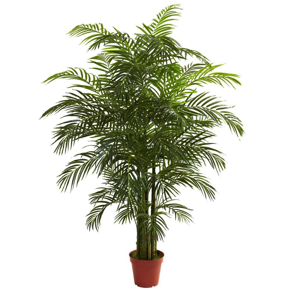 Nearly Natural 6.5 ft. UV Resistant Indoor/Outdoor Areca ...