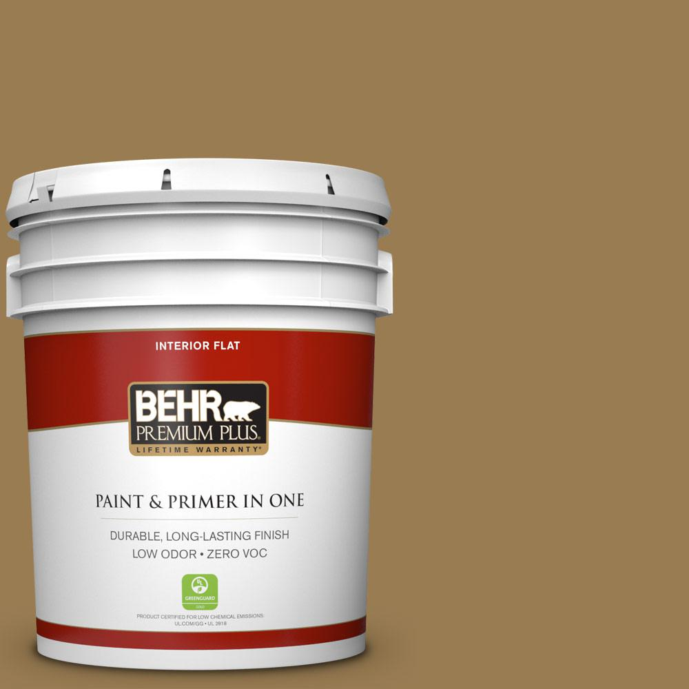 5 gal. #320F-6 Wool Tweed Zero VOC Flat Interior Paint