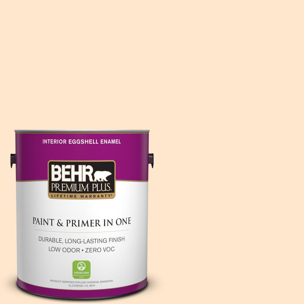BEHR Premium Plus 1-gal. #310C-1 Kansas Grain Zero VOC Eggshell Enamel Interior Paint
