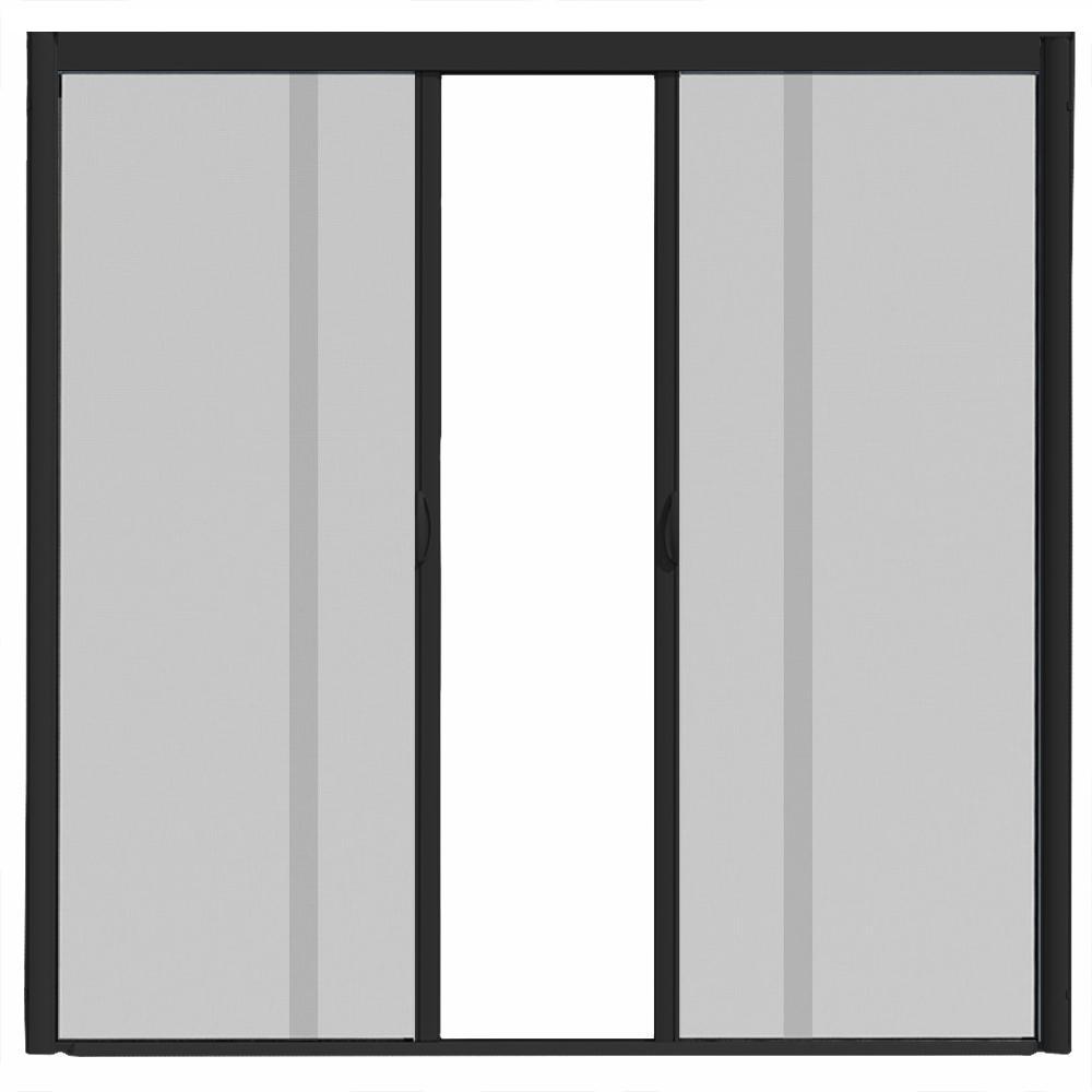 72 in. x 84 in. VS1 Black Retractable Screen Door, Double Cassette