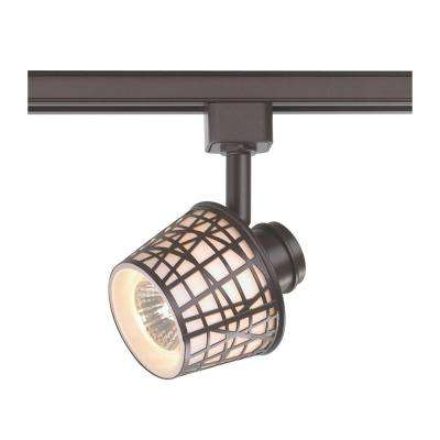 1-Light Basket Shade Linear Track Lighting Head