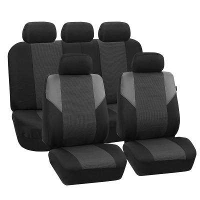 Cross Weave 47 in. x 23 in. x 1 in. Timeless Full Set Seat Covers