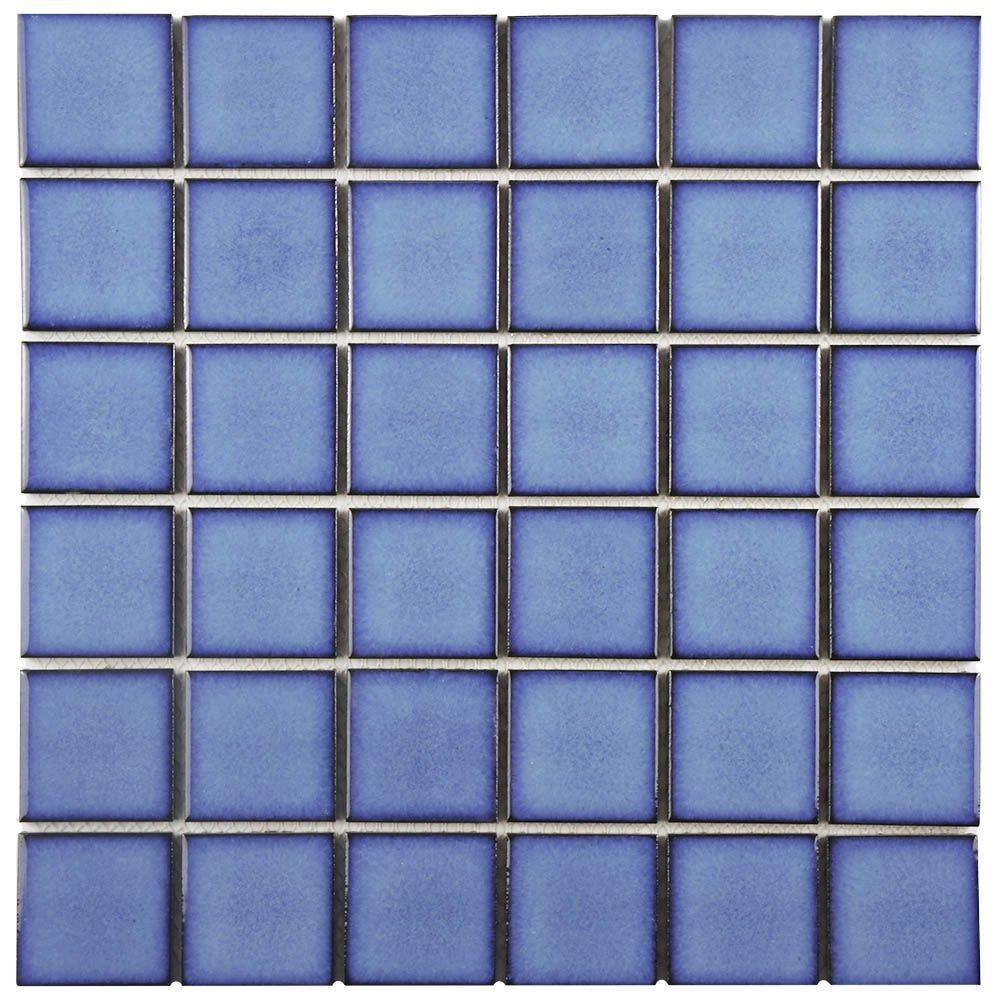 Merola Tile Oceania Quad Cerulean 11-7/8 in. x 11-7/8 in. x 6 mm ...