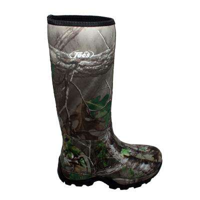 Men's Size 8 Camo Green Rubber 16 in. Hunting Boots