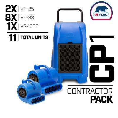 CP-1 Water Contractor Pack 1 Commercial Dehumidifier 8 Air Mover 2 Mini Air Mover