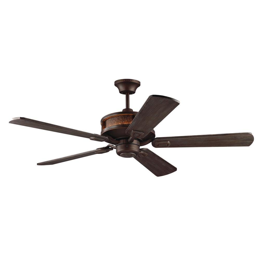 Monte Carlo Artizan 56 in. Indoor Roman Bronze Ceiling Fan