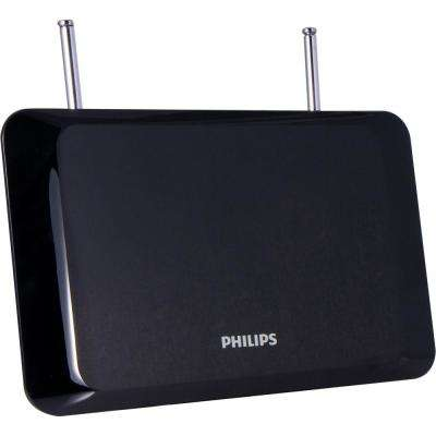 30-Mile Flat Panel HD Passive Indoor TV Antenna with Rabbit Ears