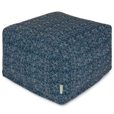Navy South West Indoor/Outdoor Ottoman Cushion