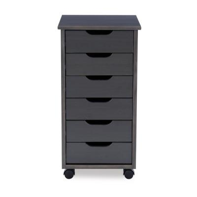 McLeod Grey 6-Drawer Rolling Storage Cart