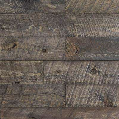 3/8 in. x 4-1/4 in. x 4-1/4 in. Board Barntique Concord Barnwood Wall Panels in Desert Burn Finish