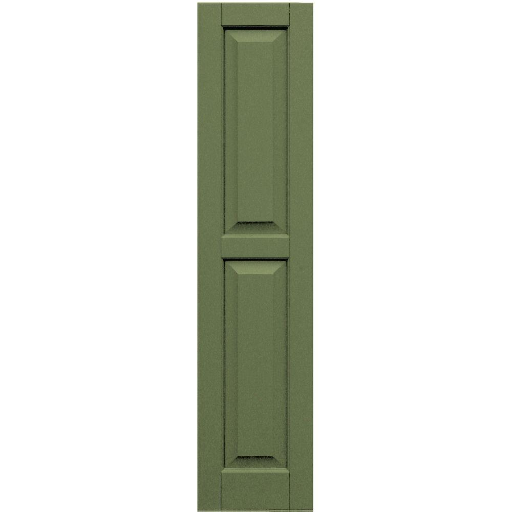 Winworks Wood Composite 12 in. x 53 in. Raised Panel Shutters Pair #660 Weathered Shingle